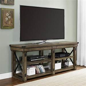 August Grove Irwin Rustic Wood TV Stand & Reviews | Wayfair