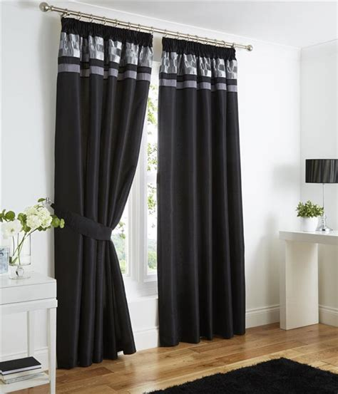 pencil pleat lined curtains plum black or charcoal grey