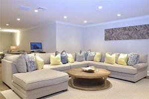 47 cool finished basement ideas design pictures With coffee table for large sectional