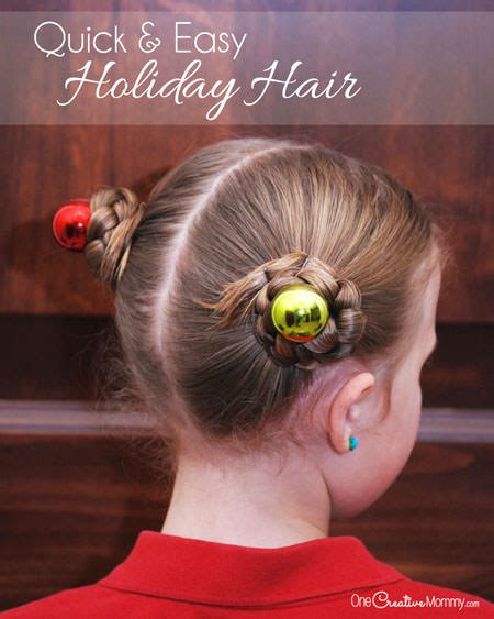 simple holiday hair  girls onecreativemommycom