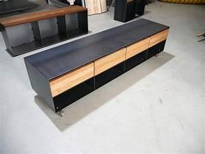 Low Board Eiche : lowboard nussbaum schwarz ~ Indierocktalk.com Haus und Dekorationen