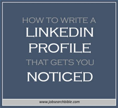 How To Get Resume Noticed On Linkedin by How To Write A Linkedin Profile That Will Get You Noticed