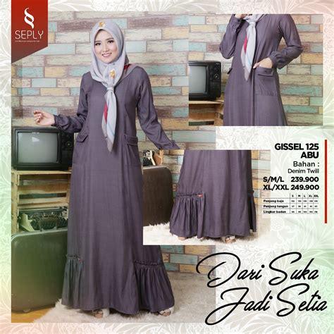 Harga Gamis Merk Seply baju muslim promo gamis seply terbaru fashion gissel 125