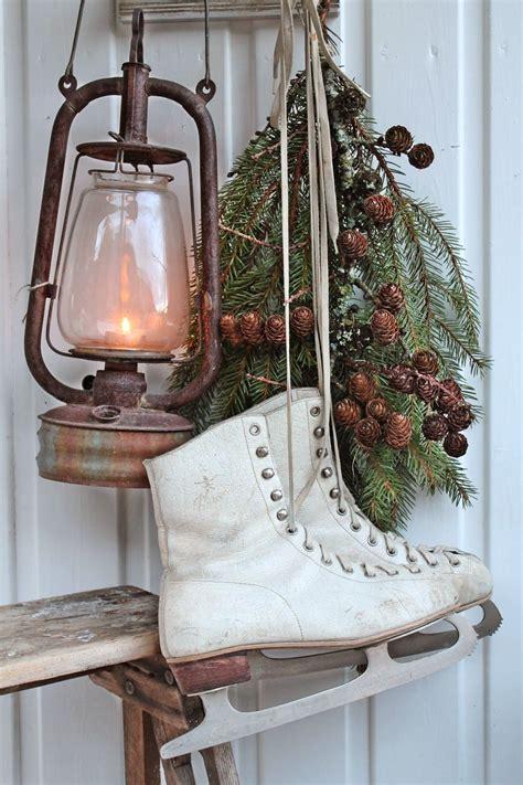 ice skates lantern greens vibeke design home