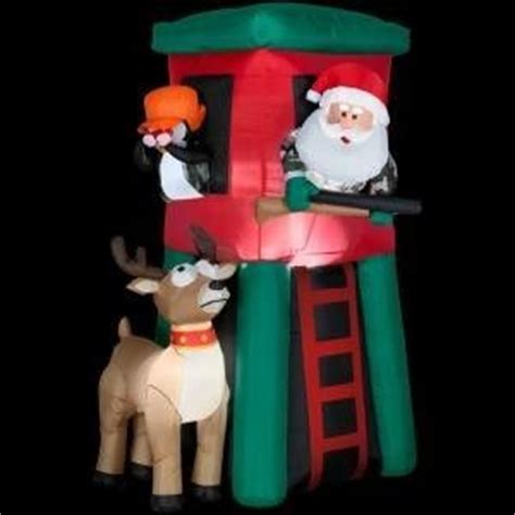 Santa Deer Stand Inflatable tree stands redneck christmas and hunting on pinterest