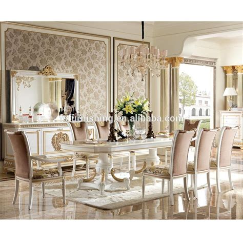yb  luxury dining room furniture set antique classical