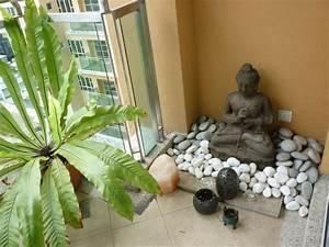 little buddha garden on the balcony outdoor ideas With katzennetz balkon mit home garden decoration