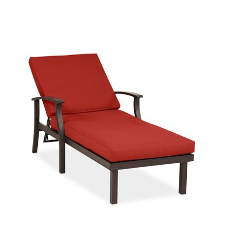 chaise métal shop allen roth gatewood 1 count brown metal patio
