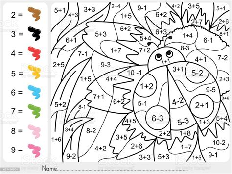 Coloring By Number Addition Worksheets
