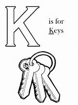 Coloring Key Pages Sheets Alphabet Keyboard Printable Letter Skeleton Lock Drawing Trombone Calligraphy Clipart Getcolorings Different Week Adult Cool Clip sketch template