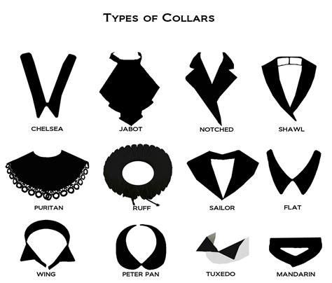 Les Différentes Formes De Col  Different Types Of Collars