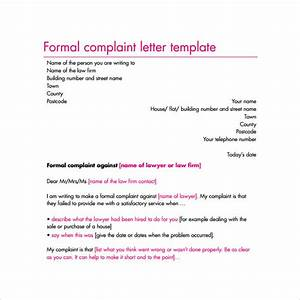 17 sample complaint letters to download sample templates With formal grievance template