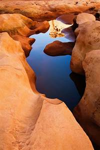 A waterpocket deep inside the Black Hole of White Canyon ...