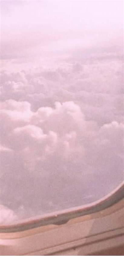 Aesthetic Pastel Wallpapers Clouds Plane Grey Pink