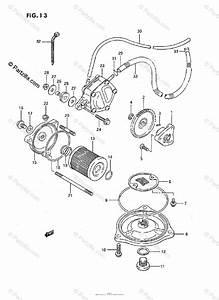 Suzuki Atv 1996 Oem Parts Diagram For Oil Pump    Fuel Pump