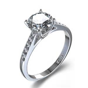 white gold engagement rings 500 1 6 ctw classic engagement ring in 14k white gold