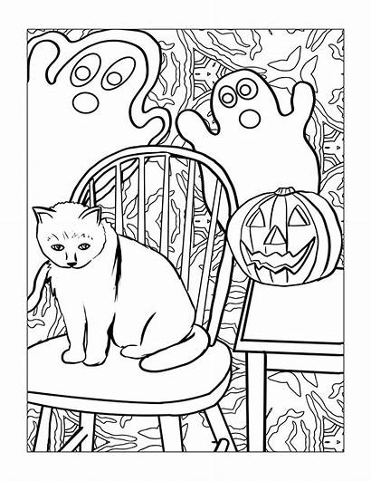 Coloring Halloween Older Gift Colouring Sheets Printable