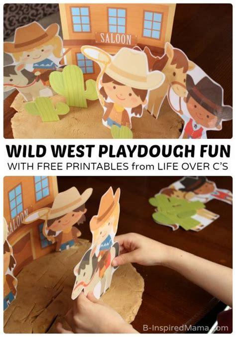 wild west playdough printables lesson plans