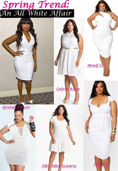 dress ideas  curvy women spring trends  white