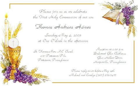 Free Communion Invitation Templates Amazing Sample First