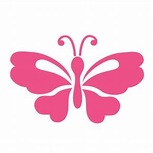 Butterfly Stencil Painting Kids or Baby Room Wall Mural