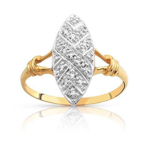 bague or 750 2 tons diamant femme bague maty