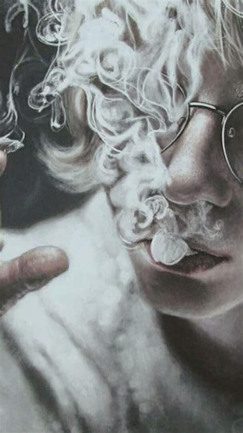 aesthetic wallpaper drawing illustration smoke smoking