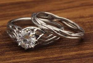 tree of life engagement rings With tree of life wedding ring