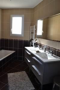 Meuble Salle De Bain Marron : stunning salle de bain verte et chocolat pictures ~ Dailycaller-alerts.com Idées de Décoration