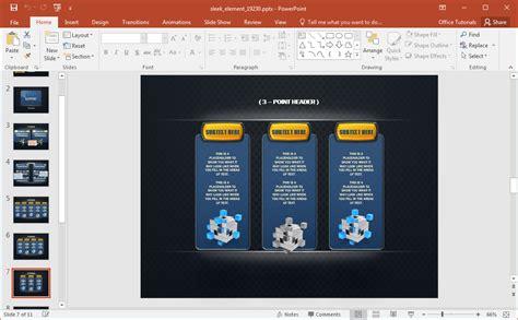 animated sleek design powerpoint template