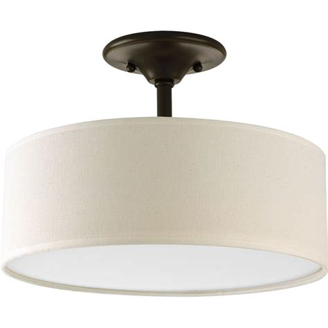 home depot flush mount ceiling light fixtures progress lighting inspire collection 2 light antique