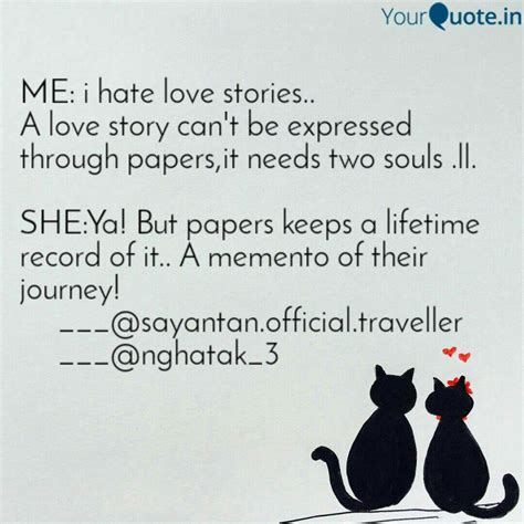 hate love stories quotes writings