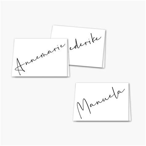 namenskarten vorlage handschrift weddingstyle collection