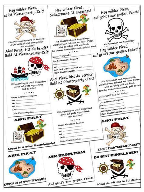 piraten geburtstagseinladungen kostenlos downloaden
