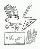 Coloring Objects Classroom Wuppsy Printables Subjects Sheets Printable Colorful sketch template