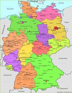 Deutschland Physische Karte : deutschland karte deutschland politische landkarte ~ Watch28wear.com Haus und Dekorationen