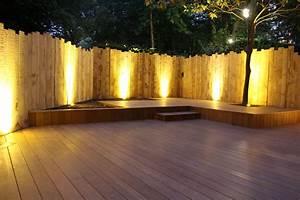 Eclairage Terrasse Bois : clairage terrasse en bois france terrasse bois decking ~ Melissatoandfro.com Idées de Décoration