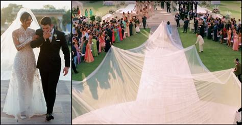 Priyanka Chopra Wedding Dress : Priyanka's Bridal Gown Was A Naked Dress With A 75 Foot