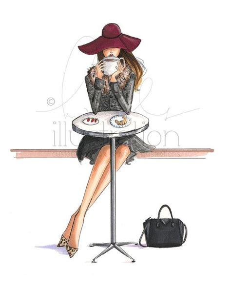 Lady Latte (Choose your Skin Tone) (Fashion Illustration
