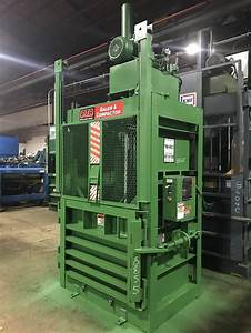 8855 Used Ptr Baler And Compactor Model 1800 Vertical Balers Recycling Equipment