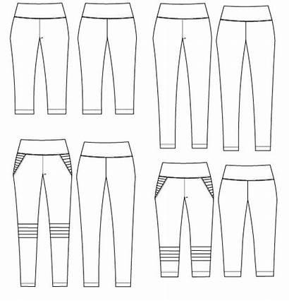 Sewing Leggings Patterns Drawing Pdf Technical Moto