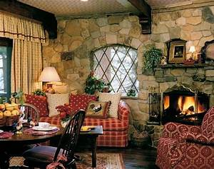 Cozy, Small, Living, Room, Ideas, English, Cottage