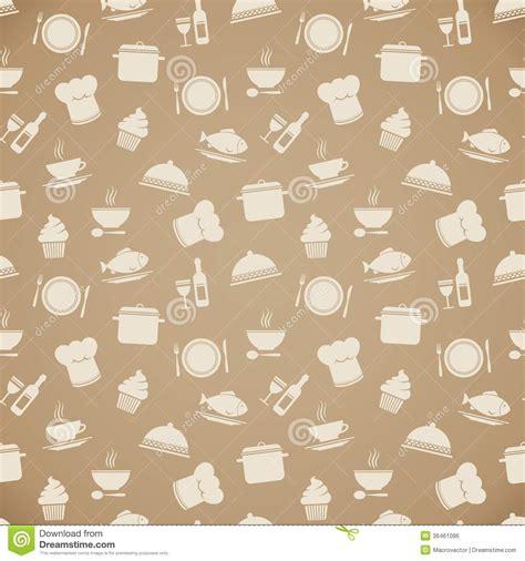 Seamless Restaurant Menu Pattern Background Royalty Free Stock Image   Image: 36461086