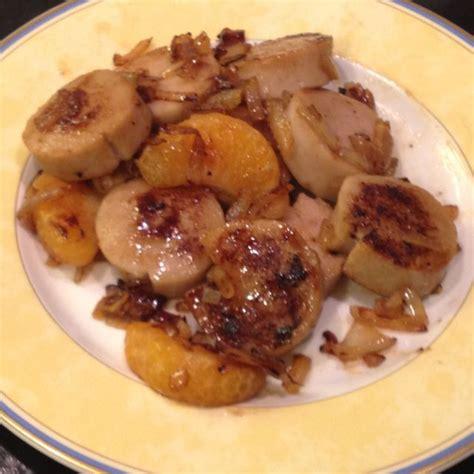 oignon blanc cuisine boudin blanc aux mandarines et confit d 39 oignons