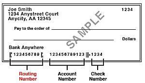check transit number fargo checks account number location fargo