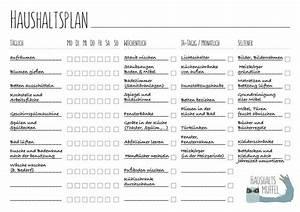 Haushalt Organisieren Plan Vorlage : haushaltsplan mit vorlage zum download haushalt diy organisation cleaning und organisation ~ Buech-reservation.com Haus und Dekorationen