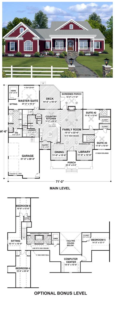 Delightful Ranch House Plans by House Plan 74834 Total Living Area 2294 Sq Ft 3