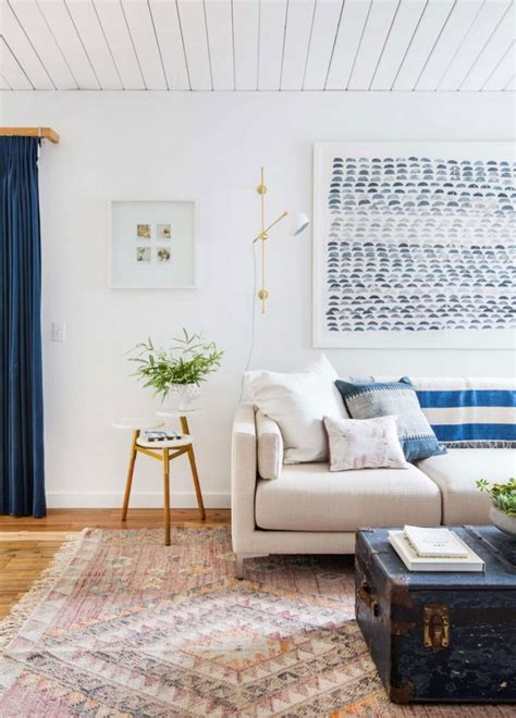 Blue, White & Wooden Interior Inspiration  Apartment Number 4