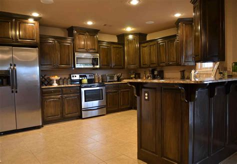 brown kitchen cabinets brown shaker kitchen cabinets deductour
