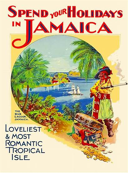 Jamaica Poster Advertisement Holiday Travel Caribbean Jamaican